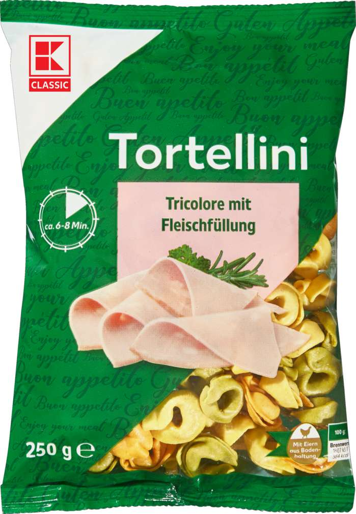 Abbildung des Sortimentsartikels K-Classic Tortellini Tricolore Fleischfüllung 250g