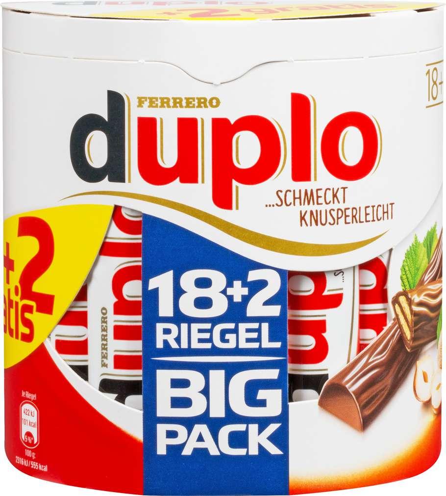 Abbildung des Sortimentsartikels Duplo Big Pack +2 Riegel gratis 364g
