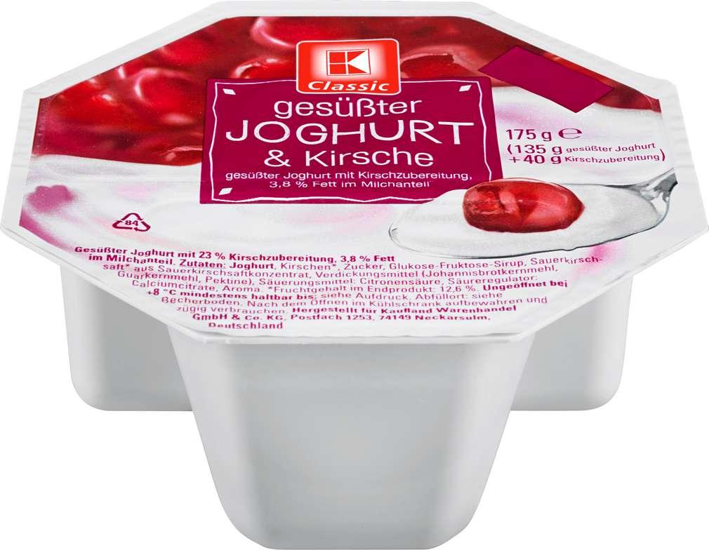 Abbildung des Sortimentsartikels K-Classic Joghurt Kirschzubereitung 175g