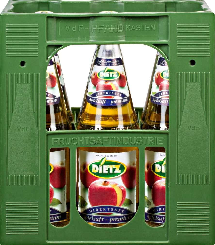 Abbildung des Sortimentsartikels Dietz Apfeldirektsaft 6x1l