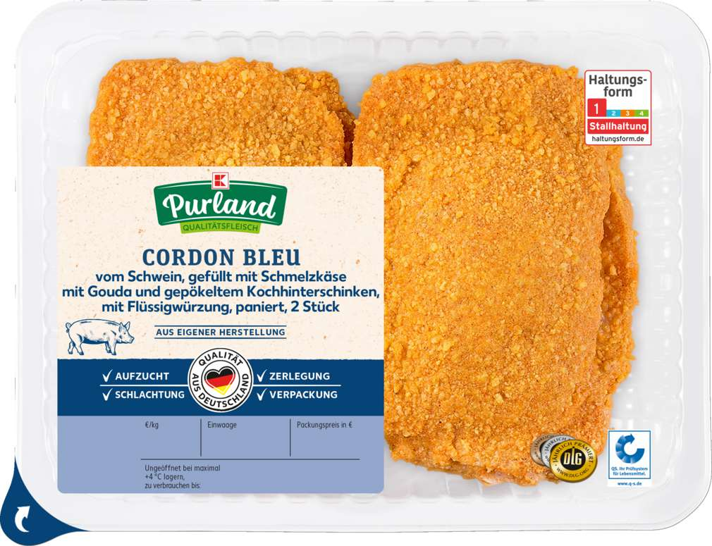 Abbildung des Sortimentsartikels K-Purland Cordon-Bleu vom Schwein, 2 Stück 400g