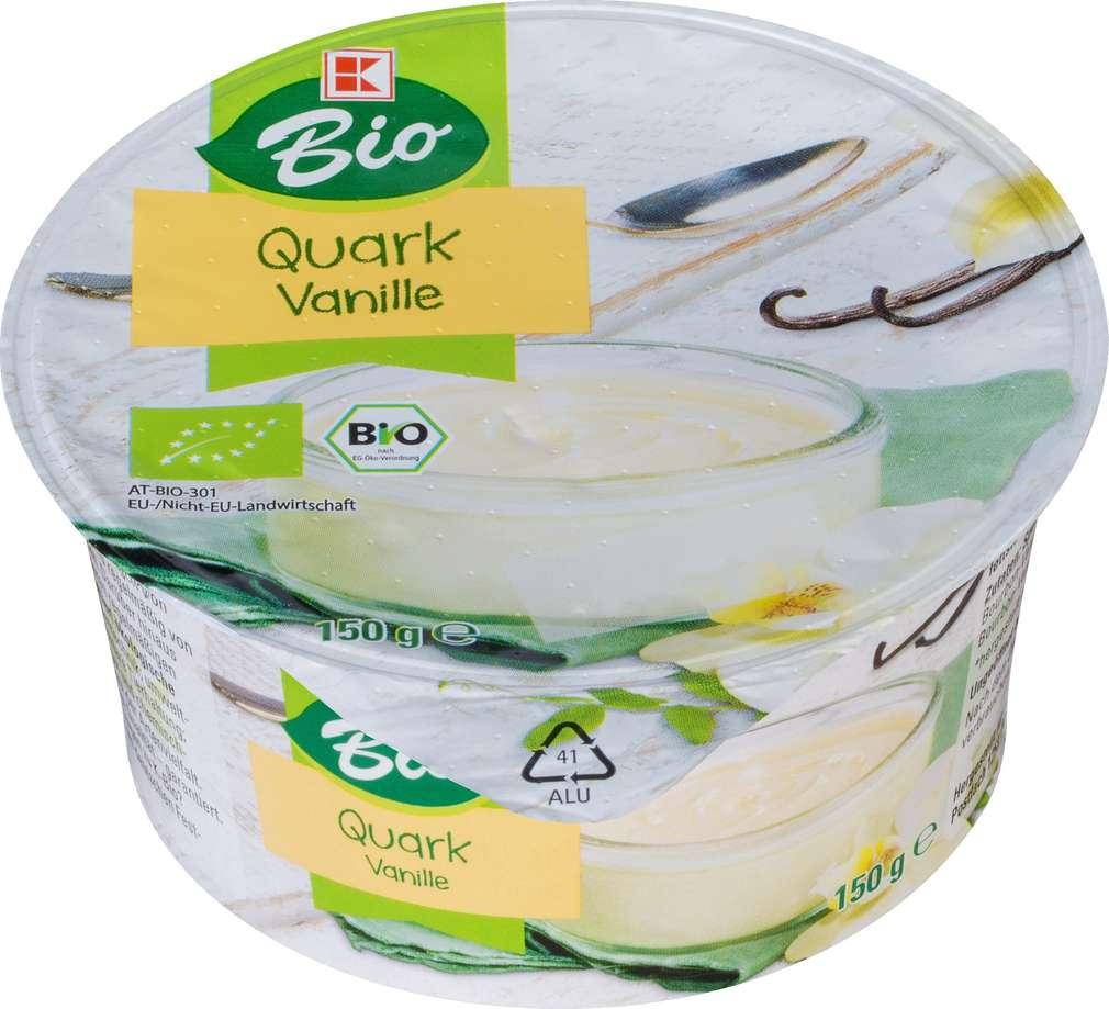 Abbildung des Sortimentsartikels K-Bio Speisequarkzubereitung Vanillezubereitung 150g