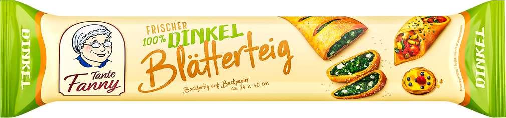 Abbildung des Sortimentsartikels Tante Fanny Frischer Dinkel-Blätterteig 270g