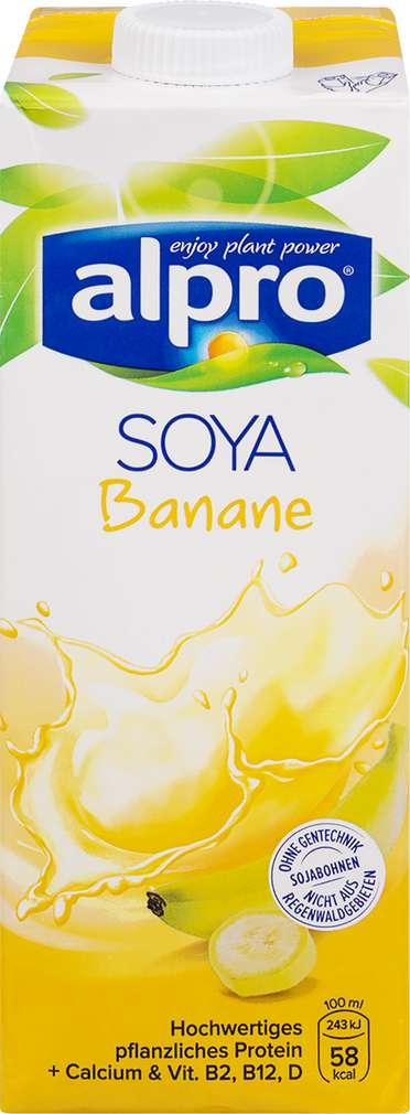Abbildung des Sortimentsartikels Alpro Soja-Drink Banane 1l