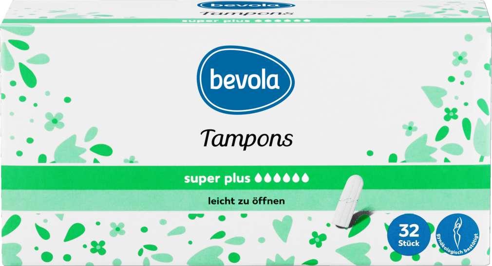 Abbildung des Sortimentsartikels Bevola Tampons Super Plus 32 Stück