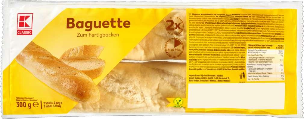 Abbildung des Sortimentsartikels K-Classic Baguette zum Aufbacken 2 Stück 300g