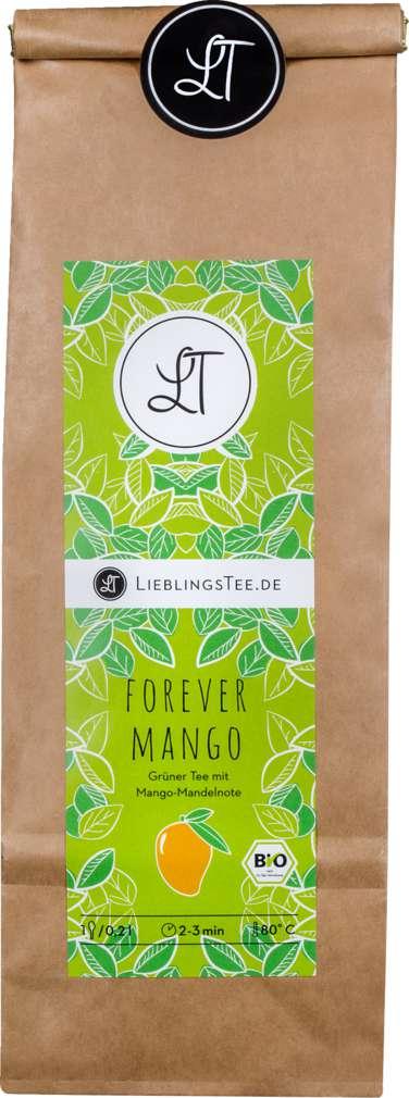 Abbildung des Sortimentsartikels LieblingsTee Bio-Grüntee Forever Mango 100g