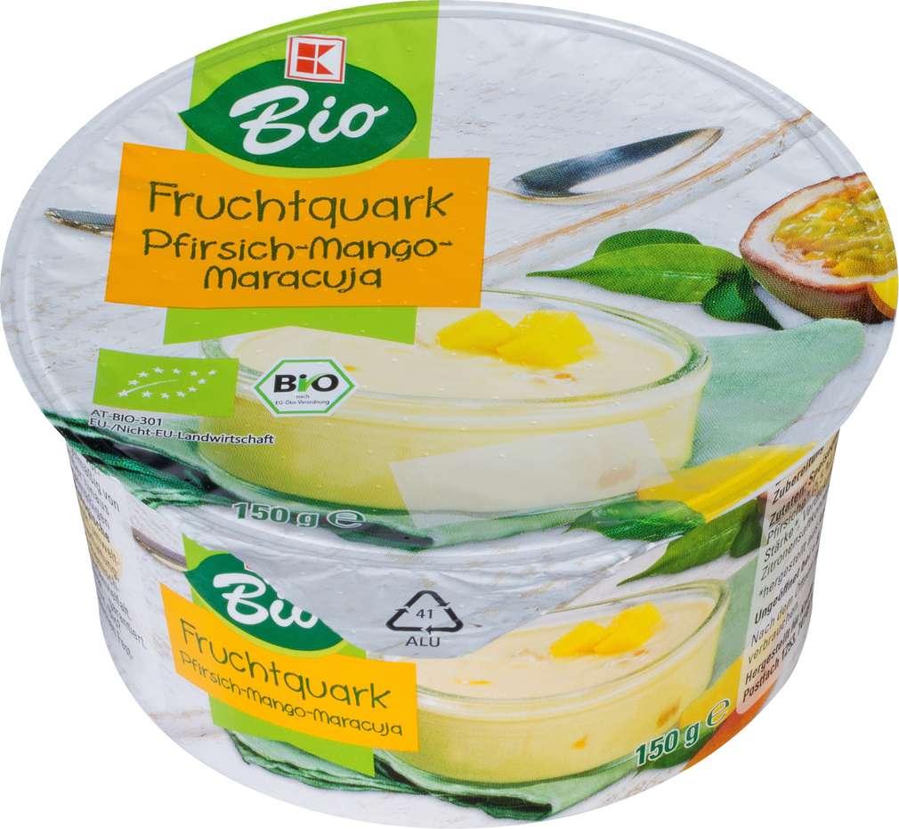 Abbildung des Sortimentsartikels K-Bio Speisequarkzubereitung Pfirsich-Mango-Maracuja 150g