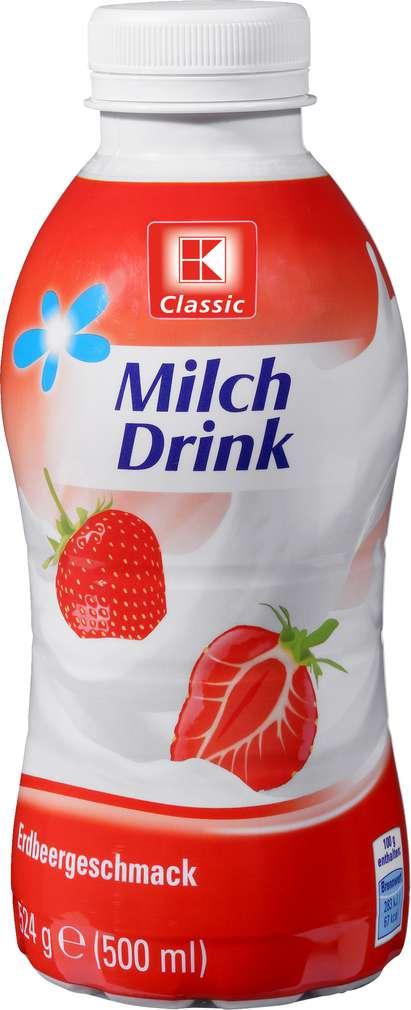 Abbildung des Sortimentsartikels K-Classic Milchdrink Erdbeere 500ml
