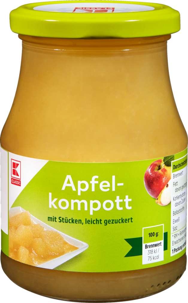 Abbildung des Sortimentsartikels K-Classic Apfelkompott leicht gezuckert 370ml