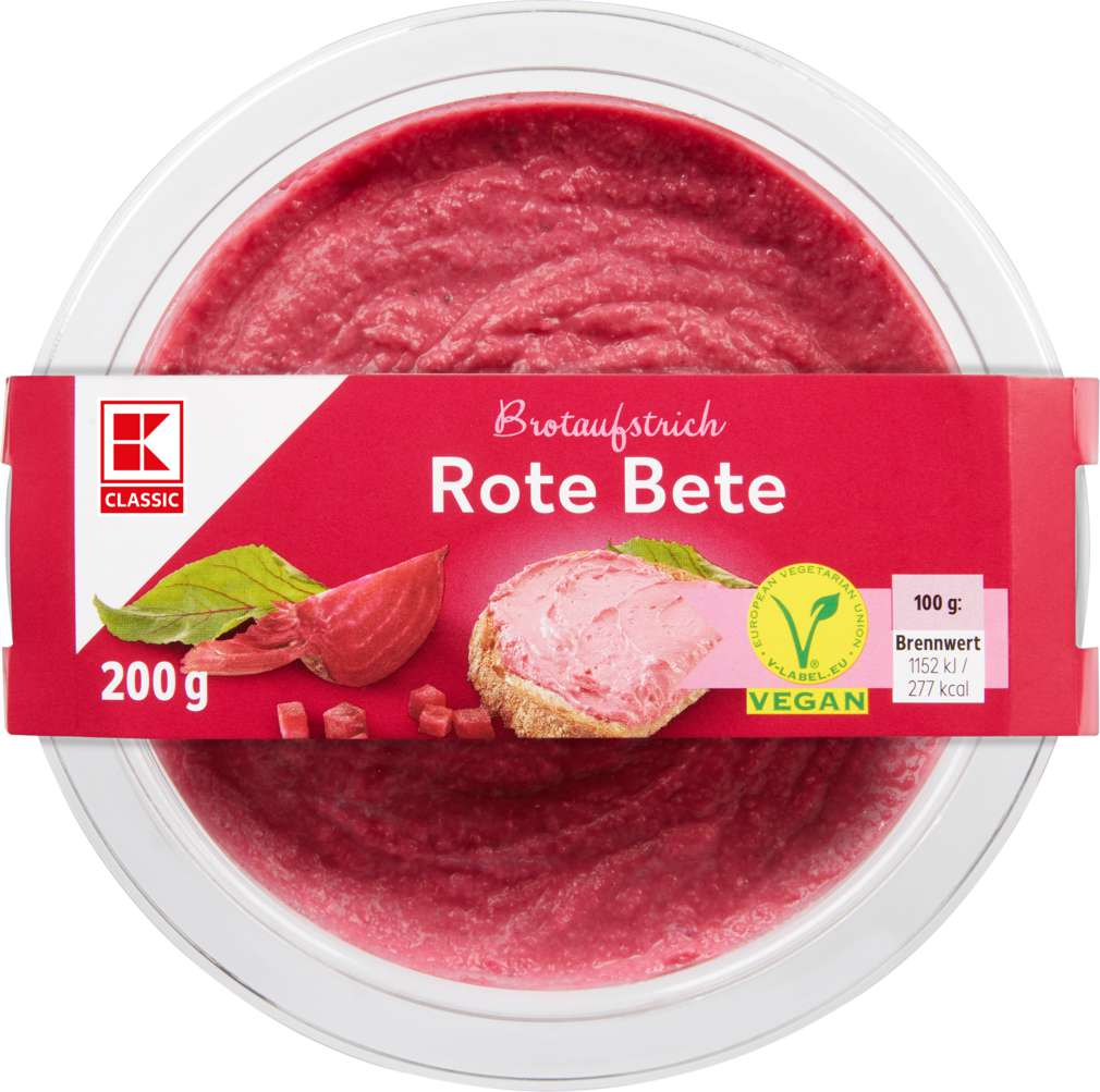 Abbildung des Sortimentsartikels K-Classic Brotaufstrich Rote Bete 200g