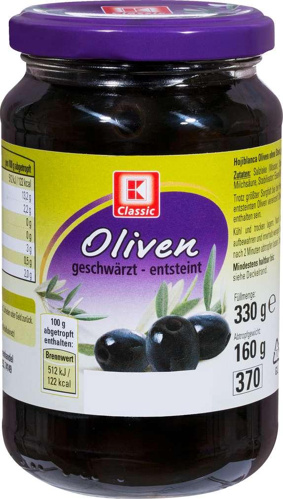 Abbildung des Sortimentsartikels K-Classic Oliven Hojiblanca schwarz ohne Stein 330g