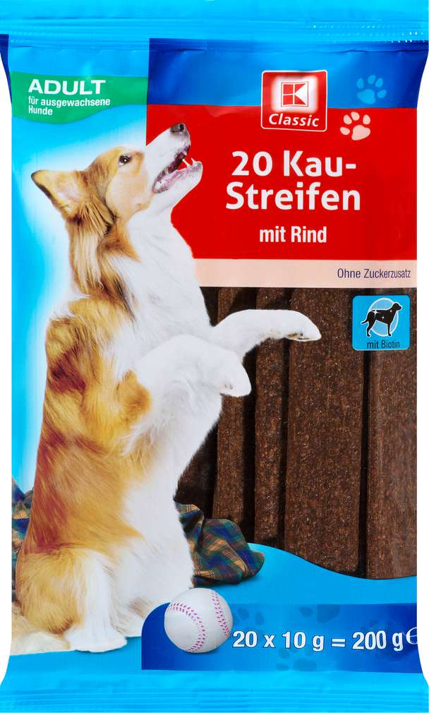 Abbildung des Sortimentsartikels K-Classic Hund Kaustreifen Rind