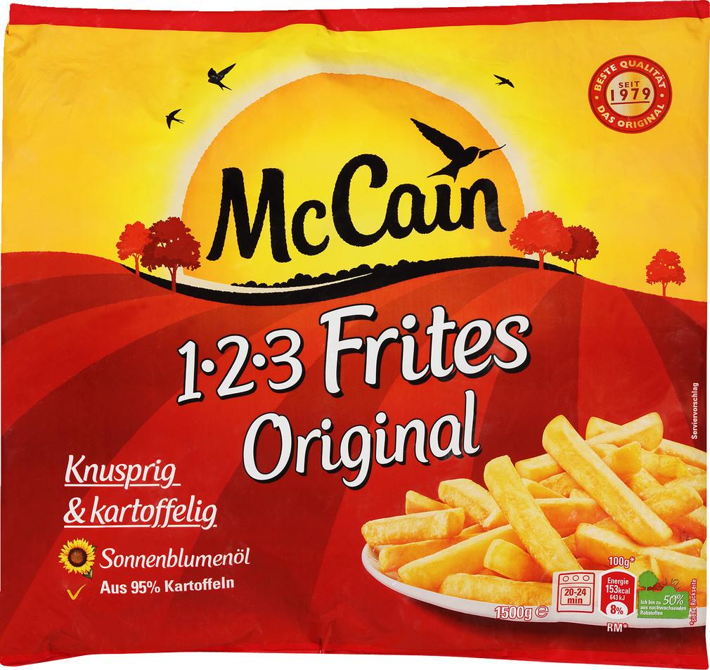 Abbildung des Sortimentsartikels Mc Cain Frites 1-2-3 Original 1500g