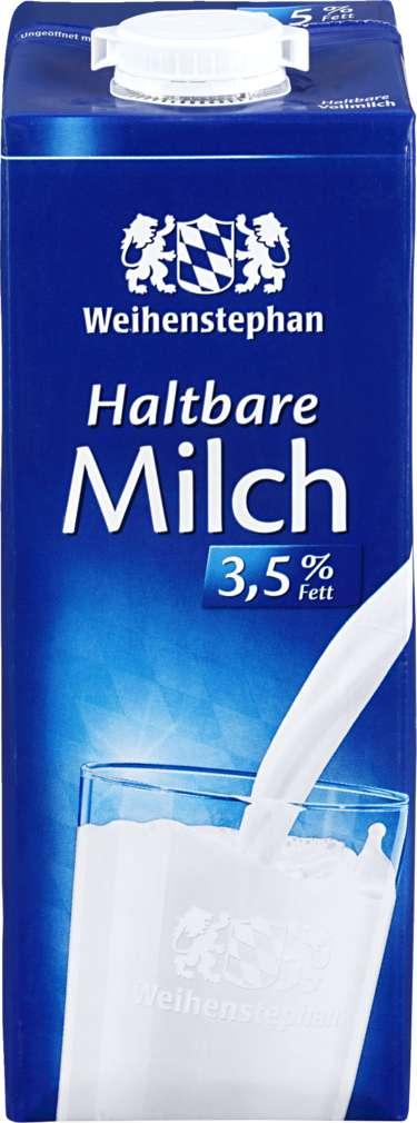 Abbildung des Sortimentsartikels Weihenstephan H-Milch 3,5% 1l