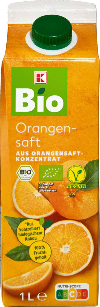 Abbildung des Sortimentsartikels K-Bio Orangensaft 1l