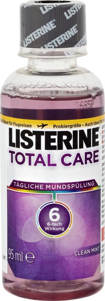 Abbildung des Sortimentsartikels Listerine Tägliche Mundspülung 6-Fach Wirkung Clean Mint