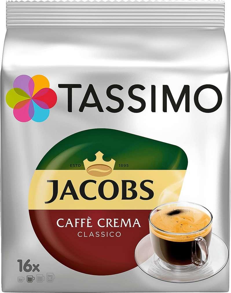 Abbildung des Sortimentsartikels Jacobs Tassimo Caffè Crema Classico 16 Kapseln 112g