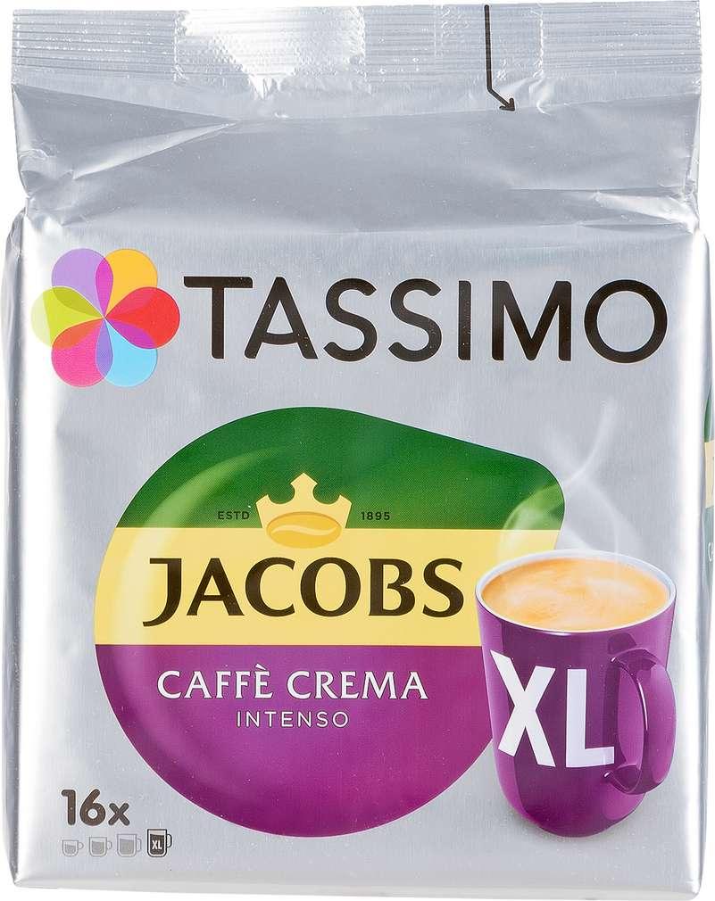 Abbildung des Sortimentsartikels Jacobs Tassimo Caffeè Crema Intenso XL 144g, 16 Kapseln