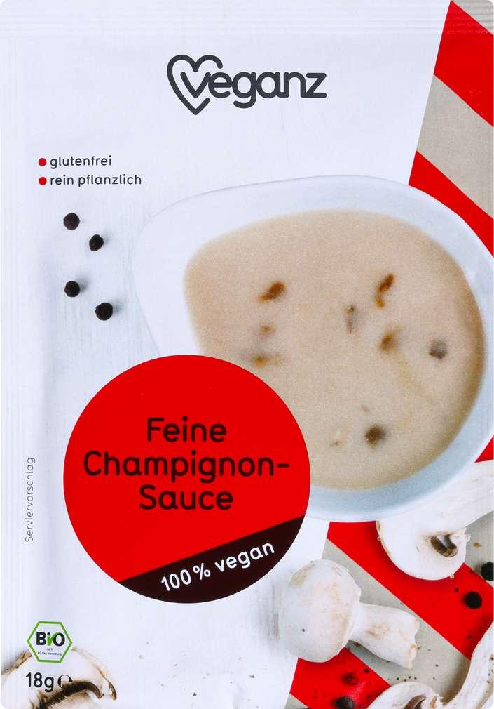 Abbildung des Sortimentsartikels Veganz Feine Champignon-Sauce 18g