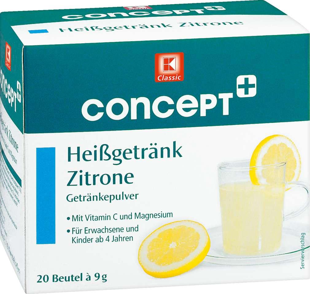Abbildung des Sortimentsartikels OTC Heißgetränk Zitrone 20x9g