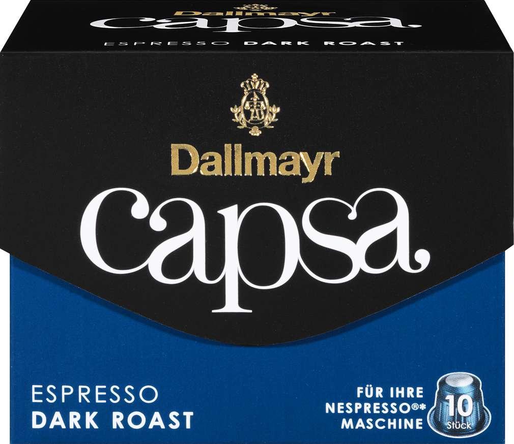 Abbildung des Sortimentsartikels Dallmayr Capsa Espresso Dark Roast 10 Kapseln 56g