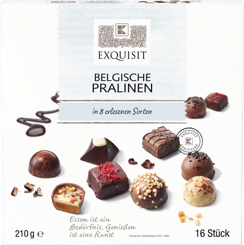 Abbildung des Sortimentsartikels Exquisit Belgische Pralinen 210g