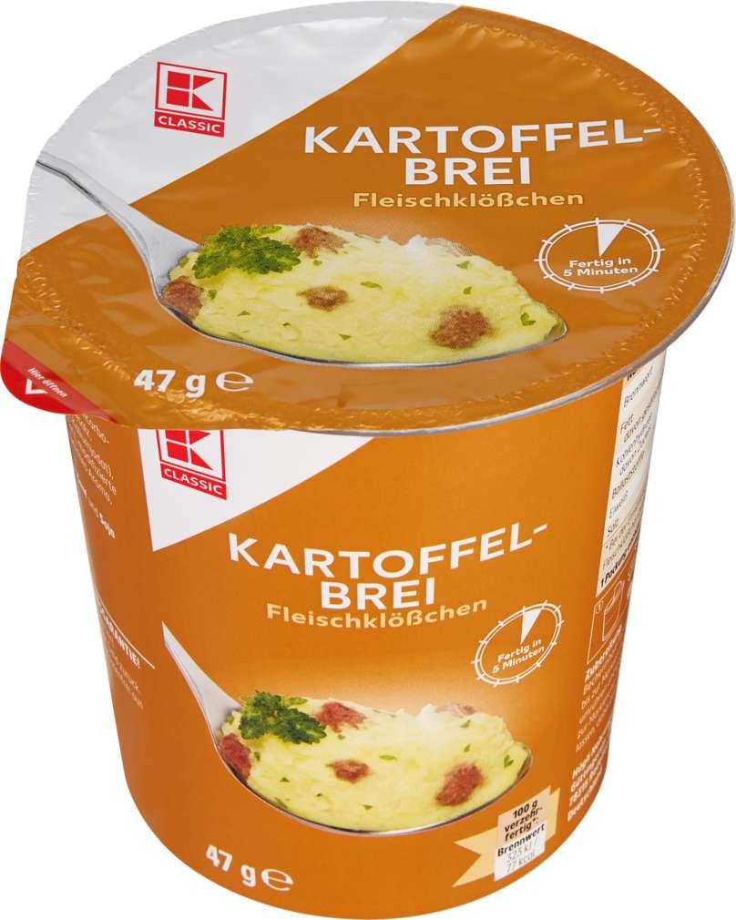 Abbildung des Sortimentsartikels K-Classic Schnelle Mahlzeit Kartoffelbrei mit Fleischklößchen 47g