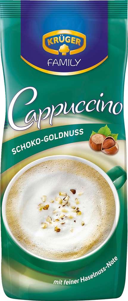 Abbildung des Sortimentsartikels Krüger Family Cappuccino Schoko-Goldnuss 500g