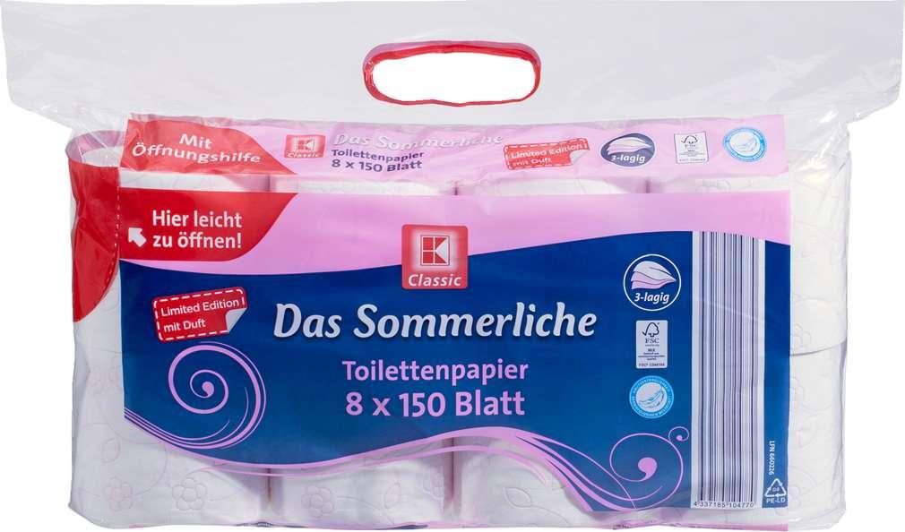 Abbildung des Sortimentsartikels K-Classic Toilettenpapier Das Sommerliche 8x150 Blatt