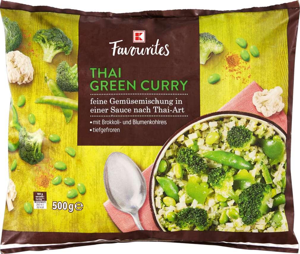 Abbildung des Sortimentsartikels K-Favourites Thai Green Curry feine Gemüsemischung 500g