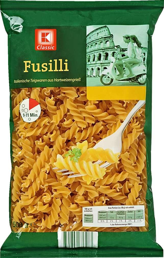 Abbildung des Sortimentsartikels K-Classic Fusilli 500g