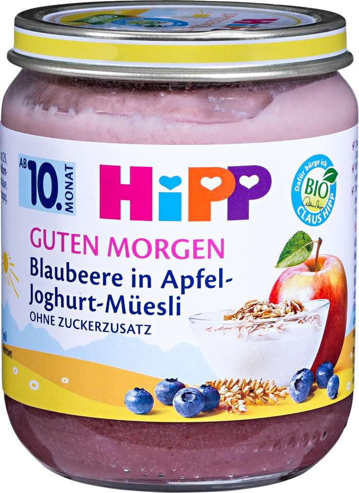 Abbildung des Sortimentsartikels Hipp Guten Morgen Blaubeere in Apfel-Joghurt-Müesli 160g