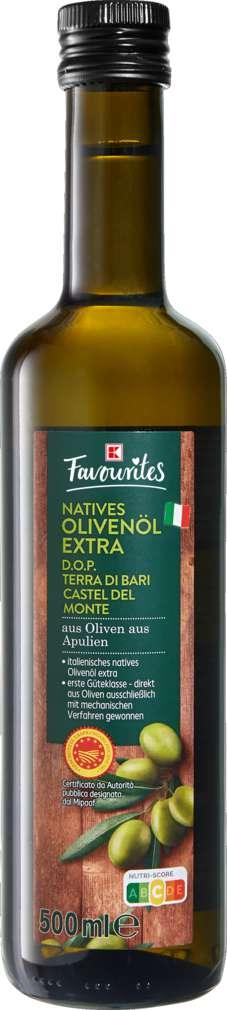 Abbildung des Sortimentsartikels K-Favourites Terra di Bari Olivenöl DOP 500ml