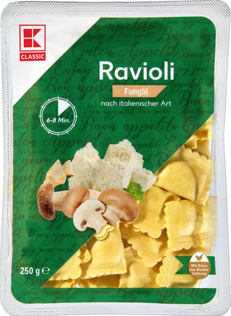 Abbildung des Sortimentsartikels K-Classic Ravioli Pilze 250g