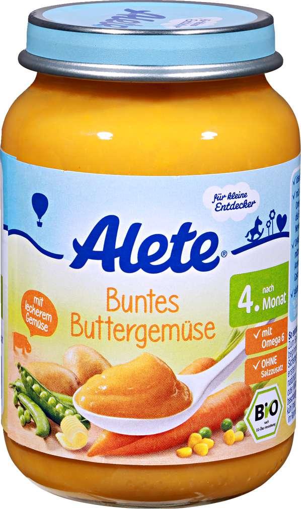 Abbildung des Sortimentsartikels Alete Kleine Entdecker Buntes Buttergemüse 190g