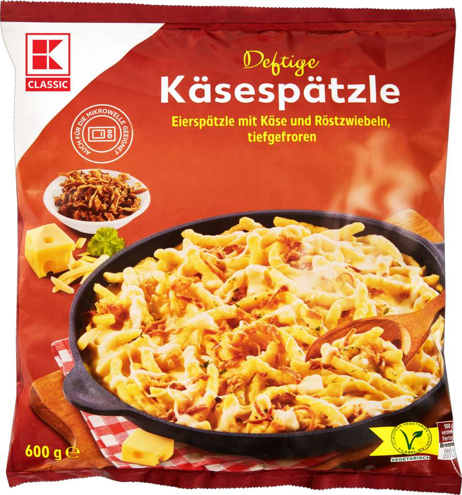 Abbildung des Sortimentsartikels K-Classic Käsespätzle 600g
