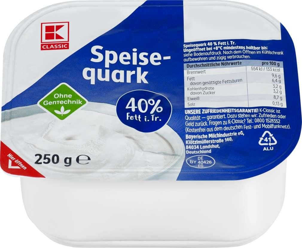 Abbildung des Sortimentsartikels K-Classic Speisequark mit Sahne 40% 250g