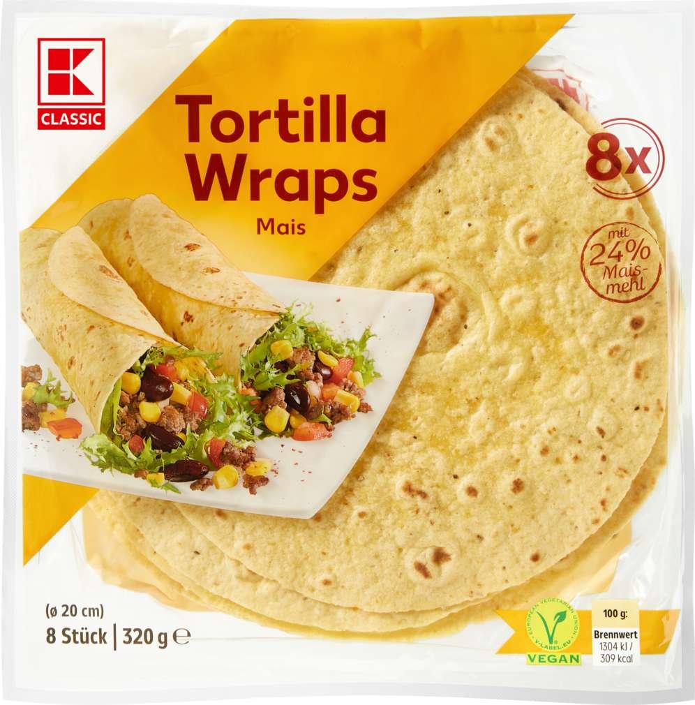 Abbildung des Sortimentsartikels K-Classic Tortilla Wraps Mais 320g, 8 Stück