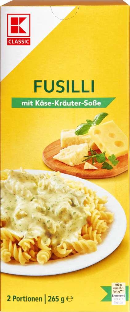 Abbildung des Sortimentsartikels K-Classic Fusilli mit Käse-Kräuter-Sauce 265g