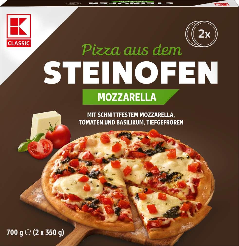 Abbildung des Sortimentsartikels K-Classic Steinofenpizza Mozzarella 2x350g