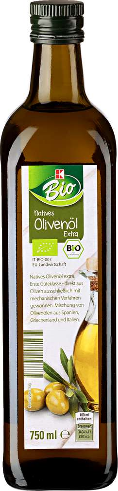 Abbildung des Sortimentsartikels K-Bio Natives Olivenöl 750ml