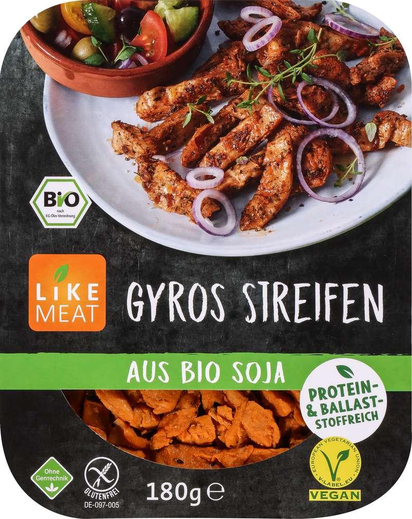 Abbildung des Sortimentsartikels Like Meat Gyros Streifen aus Bio Soja 180g