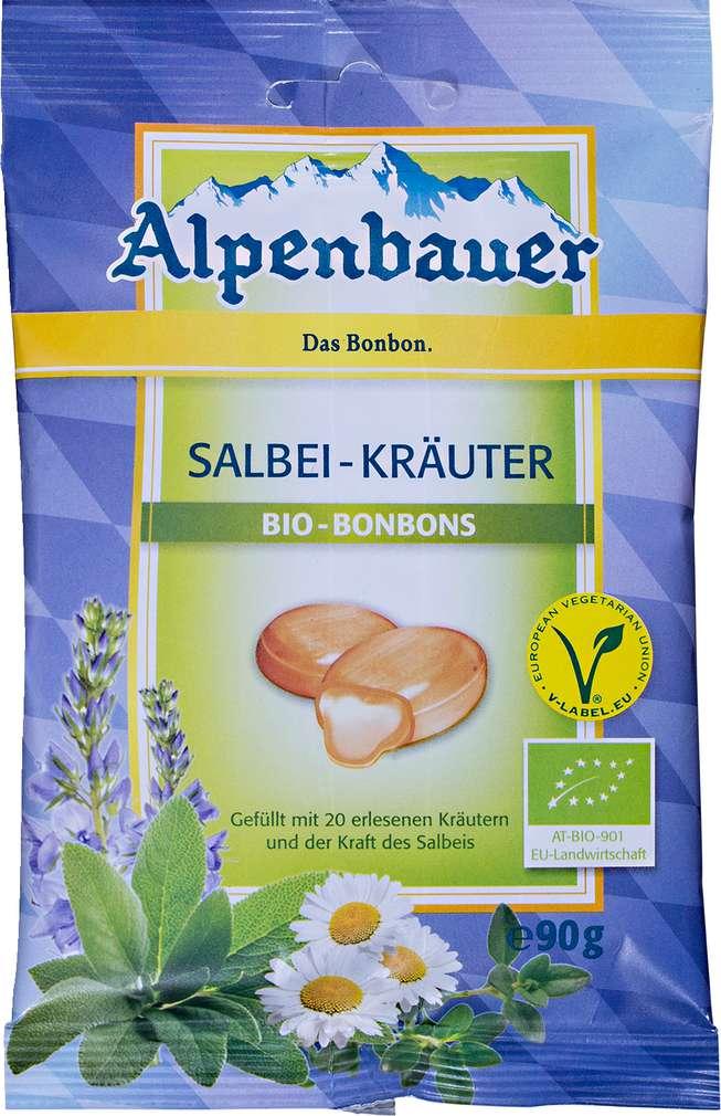 Abbildung des Sortimentsartikels Alpenbauer Salbei-Kräuter Bio Bonbons 90g