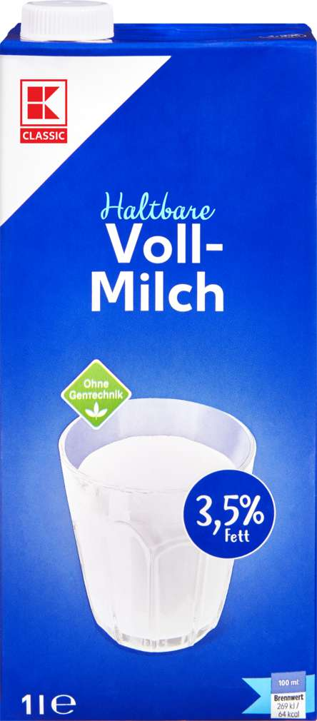 Abbildung des Sortimentsartikels K-Classic H-Vollmilch 3,5% 1l
