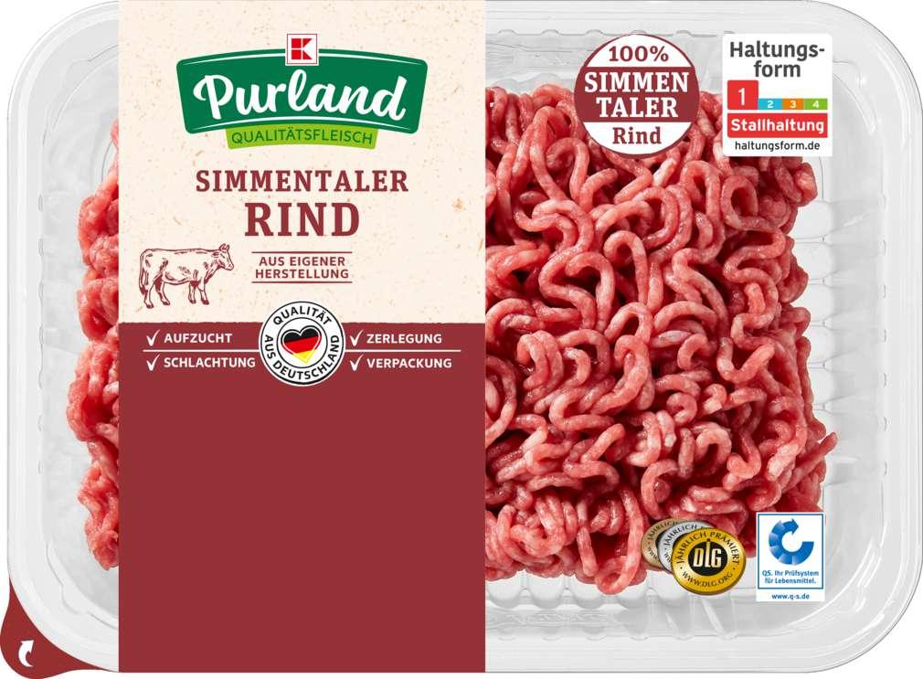 Abbildung des Sortimentsartikels K-Purland Rinderhackfleisch vom Simmentaler Rind 300g