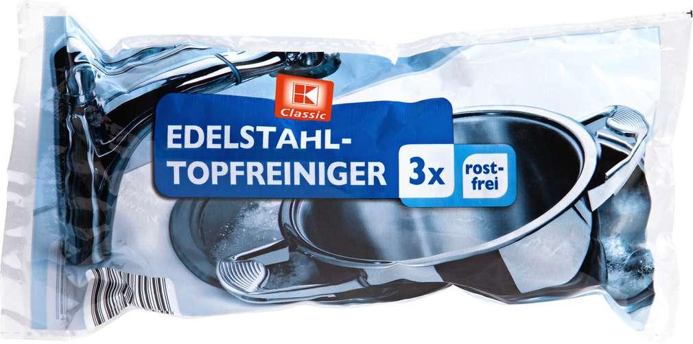 Abbildung des Sortimentsartikels K-Classic Edelstahl-Topfreiniger 3 Stück