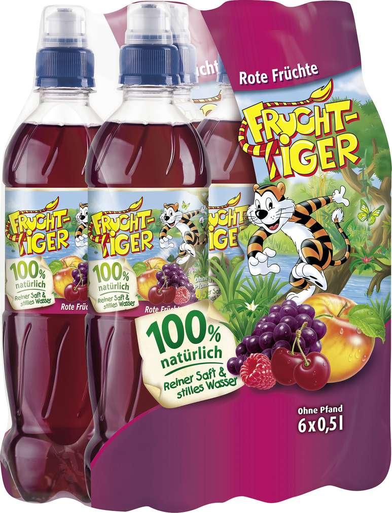 Abbildung des Sortimentsartikels Frucht-Tiger Rote Früchte 6x0,5l
