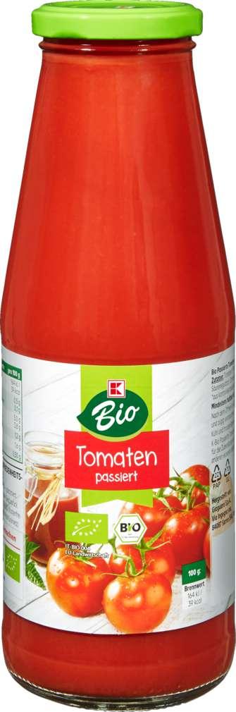 Abbildung des Sortimentsartikels K-Bio Tomaten passiert 720ml