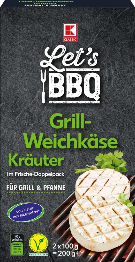 Abbildung des Sortimentsartikels K-Classic Let's BBQ Grill-Weichkäse Kräuter 2x100g